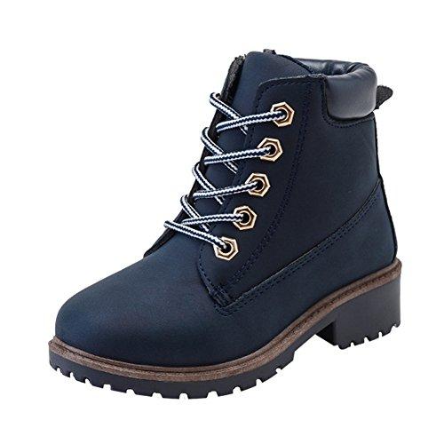 Taiycyxgan Mode Jungen Mädchen Martin Stiefel Kinder Warme Schnee Stiefel SchneeSchuhe Schwarz Blau Blau