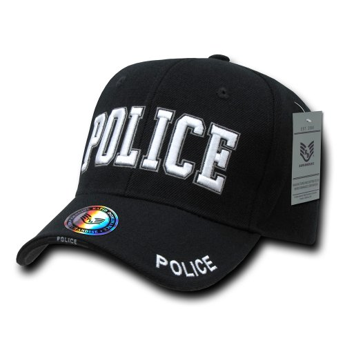 Police Badge Cap - Rapiddominance Police Deluxe Law Enforcement Cap, Black