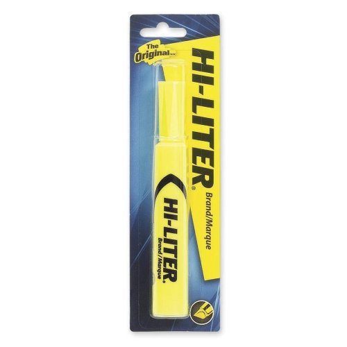 Avery Hi-Liter Desk Style Highlighter - Marker Point Style: Chisel - Ink Color: Fluorescent Yellow - 1 Each