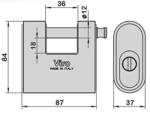 viro 4117.MC Panzer predispuesto para Medio Cilindro Base 88/mm