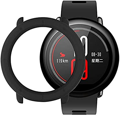 Amazfit Pace Case SIKAI Shockproof Anti-Scratch Protective Bumper Cover Huami Amazfit Pace SmartWatch (Black)