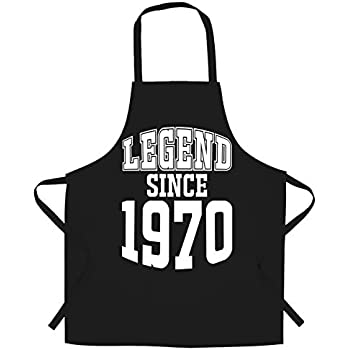 50th Birthday Chefs Apron Legend Since 1969 Slogan Fifty Years Old Gift Idea