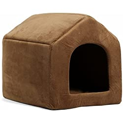 Chongwuyongpin Pet Products Luxury Dog House Cozy Dog Bed Puppy Kennel 5 Color Pet Sleeping Bed Cat Cushion Kitten Mats Pet Shop Brown L