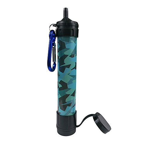 JBW-Emergency-Camping-Water-Filter-Straw-Portable-Purifier-Chemical-Free-BPA-Free-Lightweight-Filtration-System-removes-999-bacteria-filter-to-001-Micron-Camouflage-Color