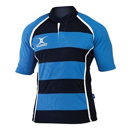 Gilbert Xact Hoops Rugby Jersey GIL254-BLAM2X-P