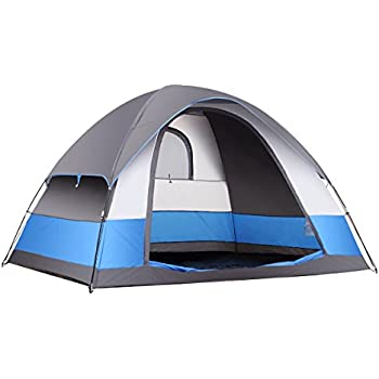 SEMOO Water Resistant 5 Person 3-Season Lightweight Family Dome Tent for Camping with Rainfly