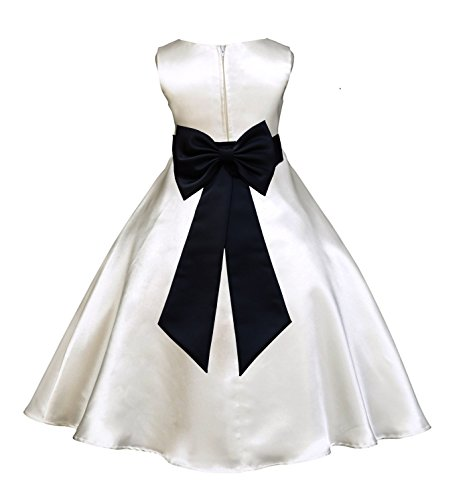ivory and black bridesmaid dress - 1