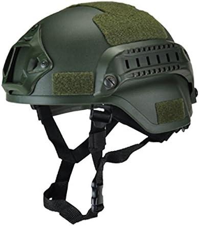 Wellouis Casco táctico Militar, Cascos de Airsoft Gear Paintball Head Protector con cámara de visión Nocturna Sport Mount
