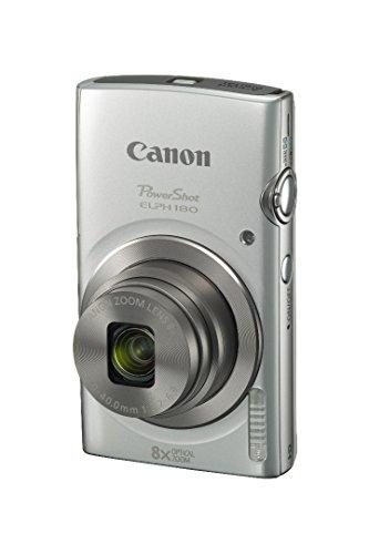Canon PowerShot ELPH 180 20 MP Digital Camera (Silver) w/32GB Accessory Bundle
