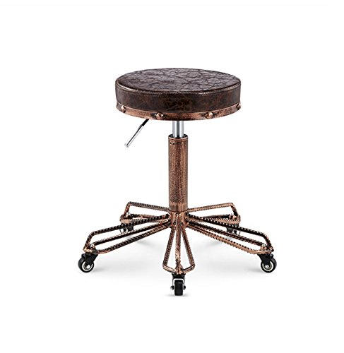 D GSHWJS Bar Stool Retro Chair Lift Wheel Pulley Stool (Multicolor Optional) Put The Stool (color   B)