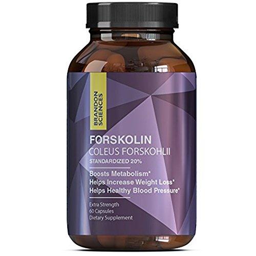 Best Forskolin Weight Loss Supplement for Men & Women - Natural Coleus Forskohlii Extract Standardized 20% Forskolin Diet Pills Fat Burner Energy Booster Potent Appetite Suppressant - Brandon Sciences