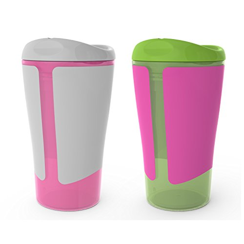 Born Free BPA-Free Grow with Me 10 oz. Big Kid Spoutless Cup, 2 Count, Girl
