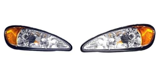 Go-Parts PAIR/SET OE Replacement for 1999-2005 Pontiac Grand Am Front Headlights Headlamps Assemblies Front Housing/Lens / Cover - Left & Right (Driver & Passenger) Side for Pontiac Gran
