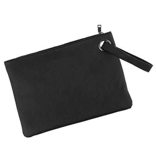 Baoblaze Oversized Daily Casual Clutch Bag Purse Womens Evening Party Wristlet Handbag - as described, Yellow Black