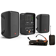 Portable Fitness Sound System with JBL EON208P PA and Shure BLX14/SM31 Wireless Microphone System