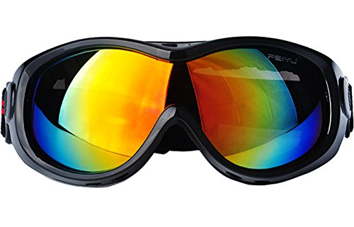 Adult Ski Goggles, Winter Snow Sports Snowboard Goggles, TPU Frame Mirrored UV Lens ,Windproof Anti-Glare for Women/Men's,Cross Country Skiing - Mountain Climbing - Cycling Sunglasses - Country Sunglasses Cross
