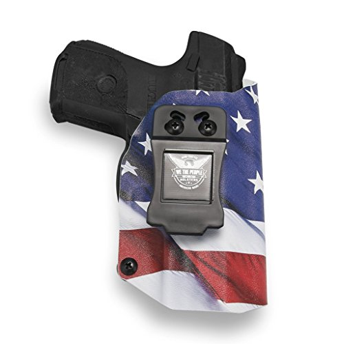 rs - Ruger SR9C Compact 9MM Compatible IWB Kydex Holster for Concealed Carry (Right Hand, American Flag) ()
