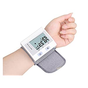 Adjustable Wrist Blood Pressure Monitor C205L2F8 Automatic Digital Upper Arm Cuff Irregular Heartbeats 4*30 Reading Memory for Home and Clinic with Case