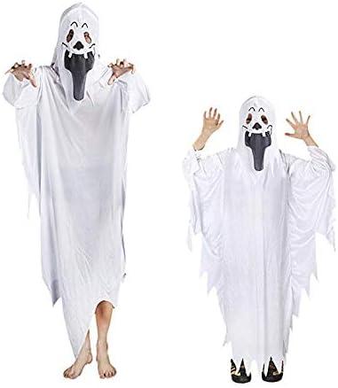 Disfraz De Fantasma De Halloween Blanco - Conjunto De Guantes De ...