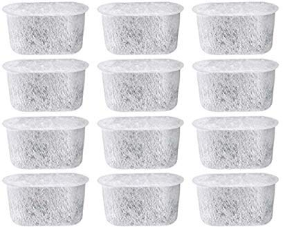 12 NISPIRA Replacement Activated Charcoal Water Filters for Coffee Machines, Compared to Cuisinart DCC-RWF Cuisinart Charcoal Coffee Filters
