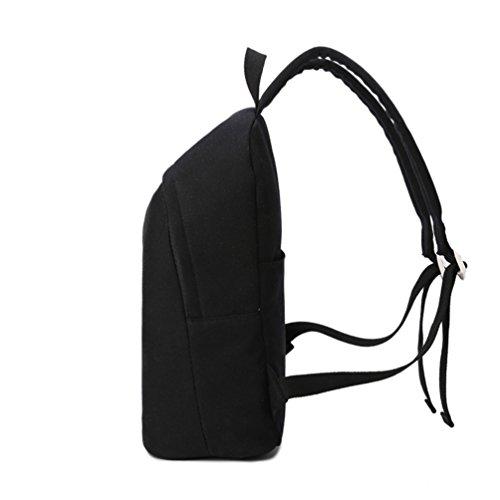 La Carrie Shop - Bolso mochila  para mujer multicolor B-LIGHTBLUE Negro carbón