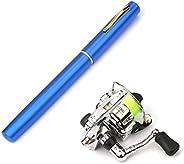 Lixada Telescopic Pen Fishing Rod Reel Combo Set Mini Pocket Collapsible Fishing Pole Kit Spinning Fishing Gea