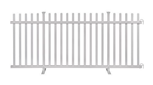 Zippity Outdoor Products ZP19026 Portable Barrier, Fence, White