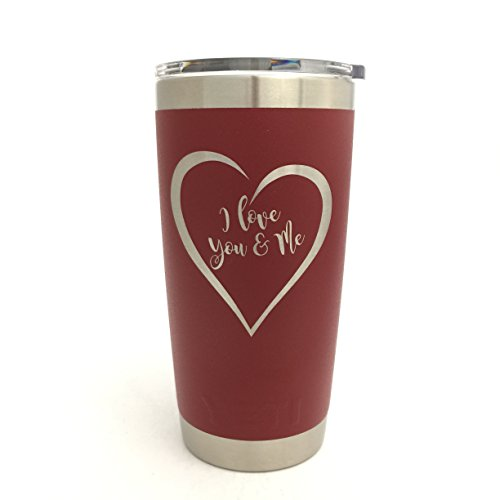 YETI Rambler Engraved I Love You & Me Design by DoGood Designs