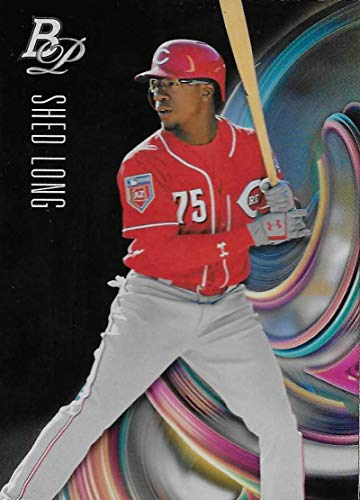 Baseball MLB 2018 Bowman Platinum Top Prospects #TOP-67 Shed Long #TOP-67 NM+ Reds