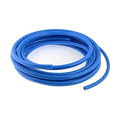 uxcell Air Compressor Hose PU Pipe Tube 4.1M 10mmx6.5mm 12mmx8mm 2pcs Blue