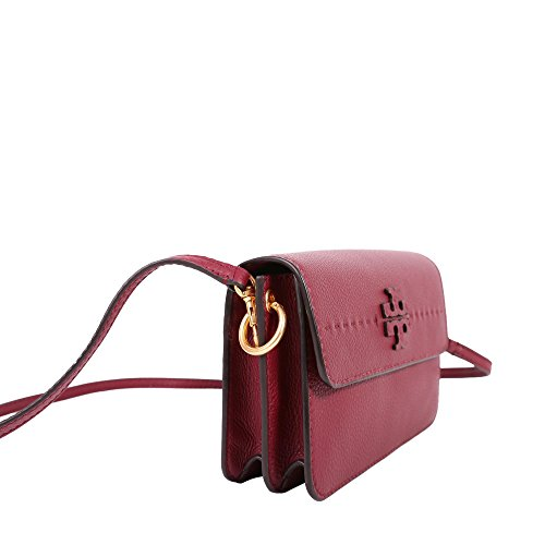 Burch Tory Leather Crossbody Imperial McGraw in Garnet drwqCrFx