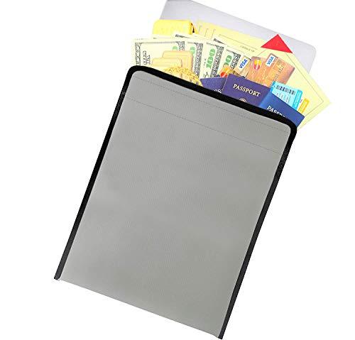Fireproof Document Bag & File Holder | Safe Folder & Organizer for Money & Valuables | Important Magazine, Movie Bags, Jewelry