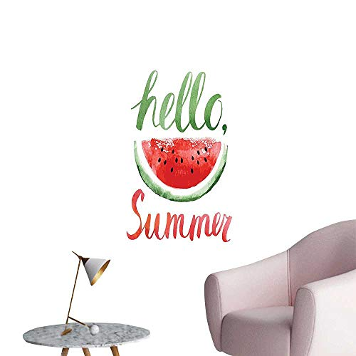 Vinyl Wall Stickers W ermel Fruit Seeds n Healthy Food Quote Hello Summer P Tern Coral Perfectly Decorated,20