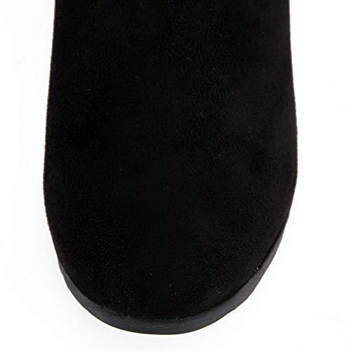 Dentelle seams 36 Abl10732 Pour Solide Bottes Uréthane Frayed Noir 5 Noir En Femme Balamasa wtIFUq