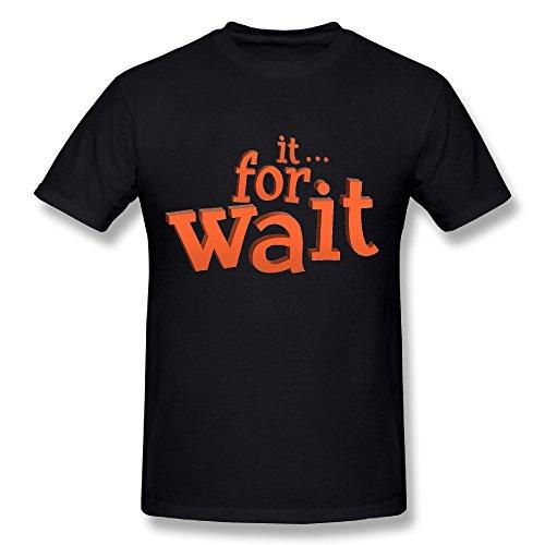 Wait For It Tee Shirts,T-Shirts For Men,Men's Basic Short Sleeve Basic Waiters Corkscrew
