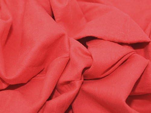 Algodón de franela Winceyette tela rojo - por metro incluye + ...