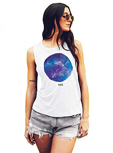 Pisces, Horoscope, Zodiac, Astrology, Muscle Tee - Medium White with Full Color Ink