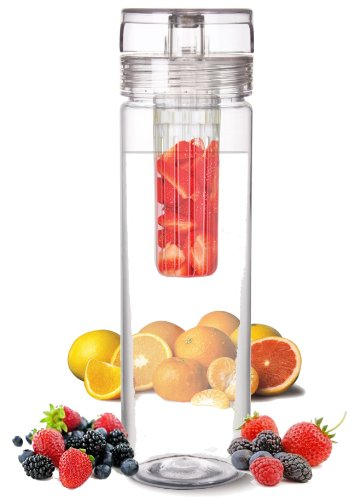 Infuser Water Bottle 27 Ounce - Made of durable Eastman TritanTM - Create Your Own Flavored Water, Naturally, with Ingredients YOU Select | FREE SHIPPING! (in USA) | The Fun & Healthy Way to Enjoy Your Daily Water.