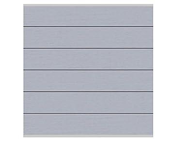Fantastisch Sichtschutz System XL WPC Grau 178x183cm, Set Mit Leisten Silber    Sichtschutzzäune Sichtschutzwand Gartensichtschutz Balkonsichtschutz
