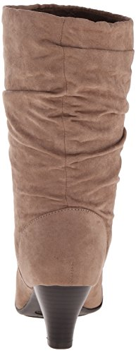 Aerosoles Womens Wise N Shine Slouch Boot Taupe Fabric