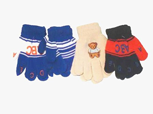 - Set of Four Pairs of One Size Magic Gloves for Toddlers for Ages 1-3 Years