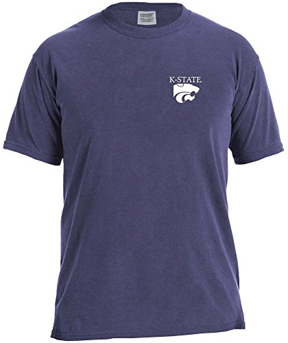 NCAA Kansas State Wildcats Simple Circle Comfort Color Short Sleeve T-Shirt, (Kansas State Football Jersey)