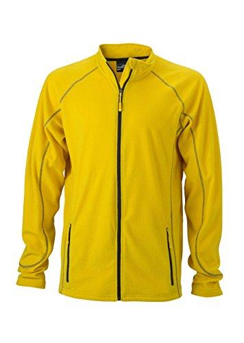 Pile In Da Giacca Jacket Structure Fleece Esterno carbon Yellow Outdoor Leggero Men's Tgqw5Enw7