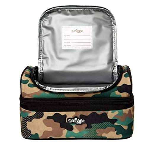 Smiggle Lunchbox Fresh Double Decker Khaki//Camo