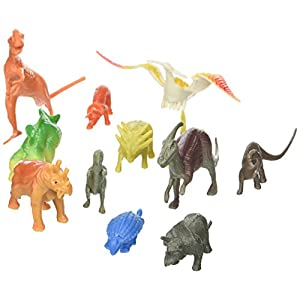 Planet Earth Prehistoric Dinosaurs: 12 Piece Set of 2 to 4 inch Dino and Mammal Figures