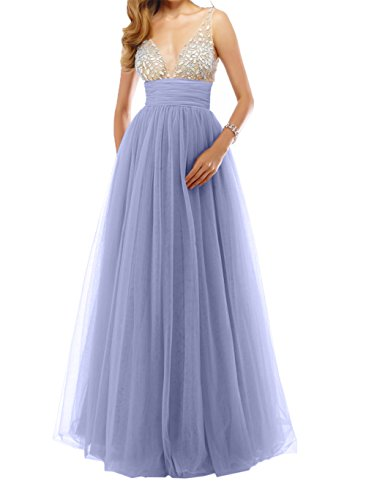 A linie Promkleider Steine Damen Lawender Rock Brautmutterkleider Abendkleider Langes Prinzess Tuell Charmant Tanzenkleider nqzxwUvq
