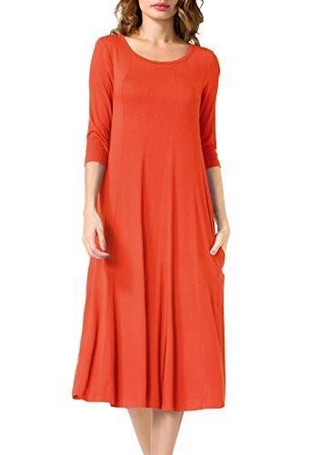 orange a line dress - 9