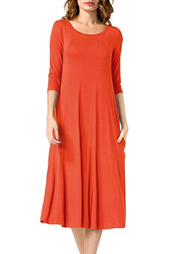 orange knit dress - 1