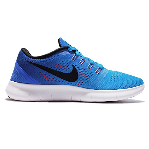 Nike Womens Wmns Free Rn, Blu Glow / Black / Racer Blu-brillante Cremisi, 12 M Us