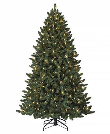 competitive price 5980a 7dafb 6 Feet Fine Shape Hinged Classic Evergreen Christmas Tree Pre-lit with LED  lights (6ft Pre-lit)